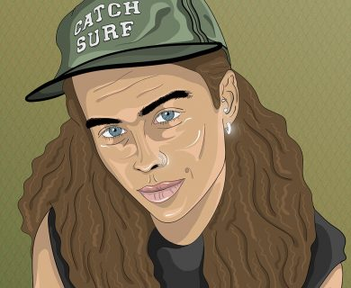Tash Sultana cartoon